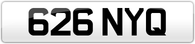 Plate image for registration plate 626NYQ