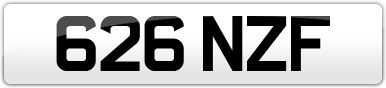 Plate image for registration plate 626NZF