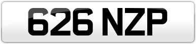Plate image for registration plate 626NZP