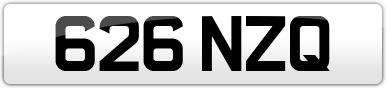 Plate image for registration plate 626NZQ
