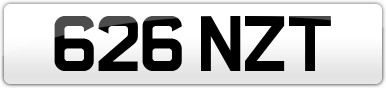Plate image for registration plate 626NZT