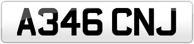 Plate image for registration plate A346CNJ
