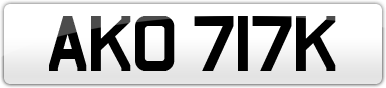 Plate image for registration plate AKO717K