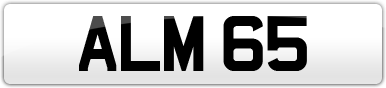 Plate image for registration plate ALM65