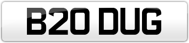 Plate image for registration plate B20DUG