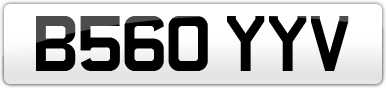 Plate image for registration plate B560YYV