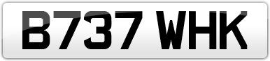 Plate image for registration plate B737WHK