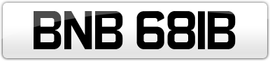 Plate image for registration plate BNB681B