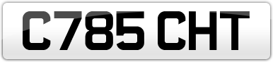 Plate image for registration plate C785CHT