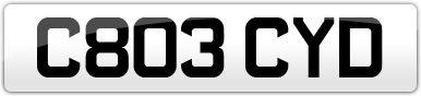 Plate image for registration plate C803CYD