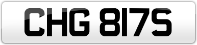 Plate image for registration plate CHG817S
