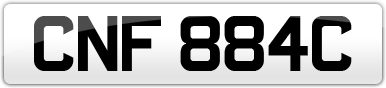 Plate image for registration plate CNF884C