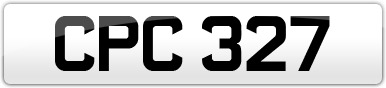 Plate image for registration plate CPC327