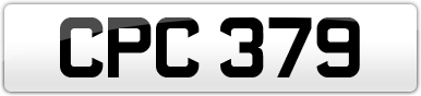Plate image for registration plate CPC379