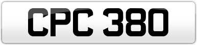 Plate image for registration plate CPC380