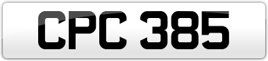 Plate image for registration plate CPC385