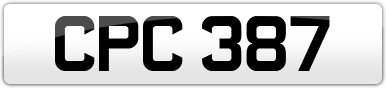 Plate image for registration plate CPC387