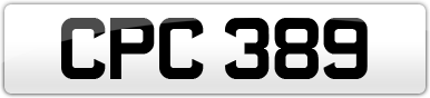 Plate image for registration plate CPC389