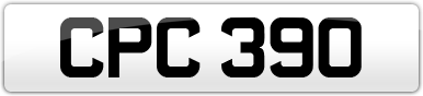 Plate image for registration plate CPC390
