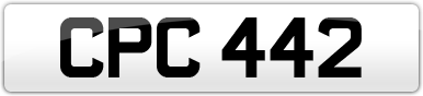 Plate image for registration plate CPC442