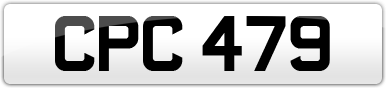 Plate image for registration plate CPC479
