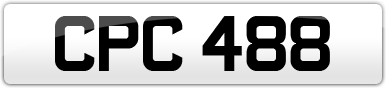 Plate image for registration plate CPC488