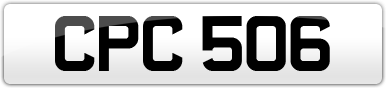 Plate image for registration plate CPC506