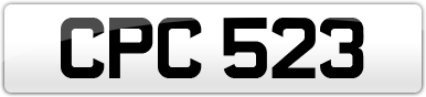 Plate image for registration plate CPC523
