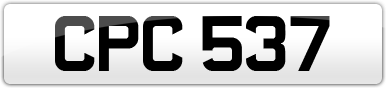 Plate image for registration plate CPC537