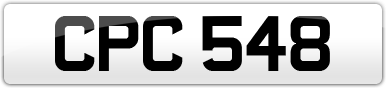 Plate image for registration plate CPC548