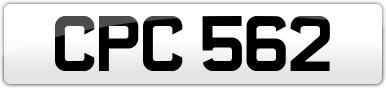 Plate image for registration plate CPC562