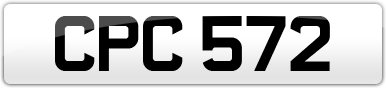 Plate image for registration plate CPC572