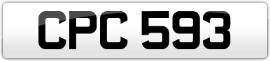Plate image for registration plate CPC593