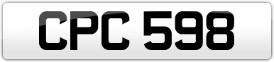 Plate image for registration plate CPC598