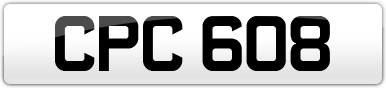 Plate image for registration plate CPC608