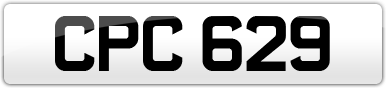 Plate image for registration plate CPC629