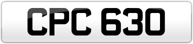 Plate image for registration plate CPC630