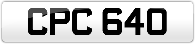 Plate image for registration plate CPC640