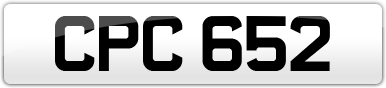 Plate image for registration plate CPC652