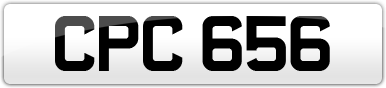 Plate image for registration plate CPC656