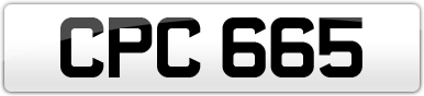 Plate image for registration plate CPC665