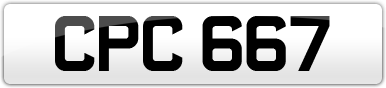 Plate image for registration plate CPC667