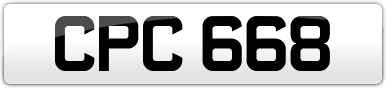 Plate image for registration plate CPC668