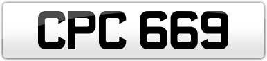 Plate image for registration plate CPC669