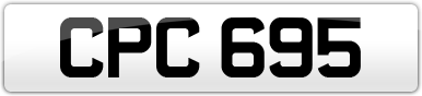 Plate image for registration plate CPC695
