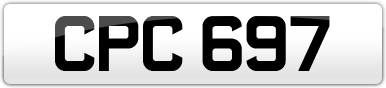 Plate image for registration plate CPC697