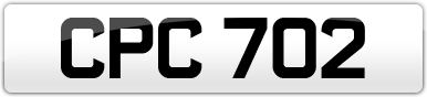 Plate image for registration plate CPC702