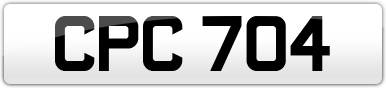 Plate image for registration plate CPC704