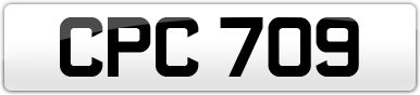 Plate image for registration plate CPC709