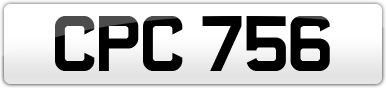 Plate image for registration plate CPC756